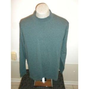 2/$30 Mens Mock Turtleneck Sweater XLT Teal Blue